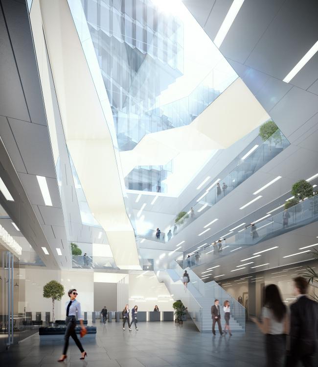 Проект офисного здания на 2-й Брестской в Москве © SPEECH