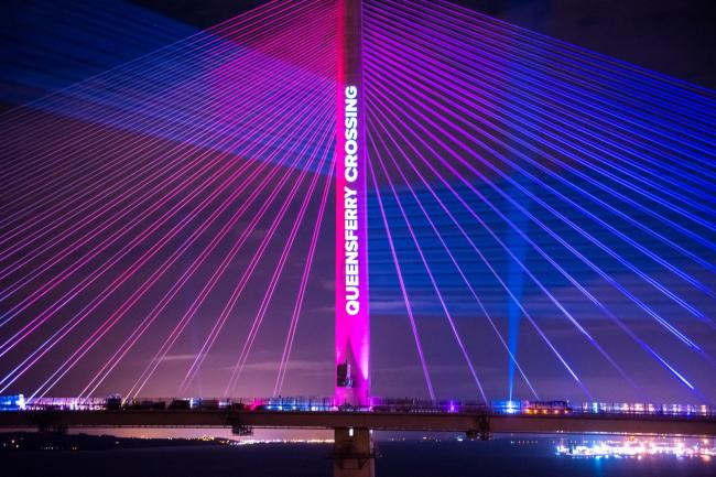 Мост Квинсферри-кроссинг в день приемки первым министром Шотландии Николой Стерджен 29 августа 2017. Фото предоставлено Transport Scotland