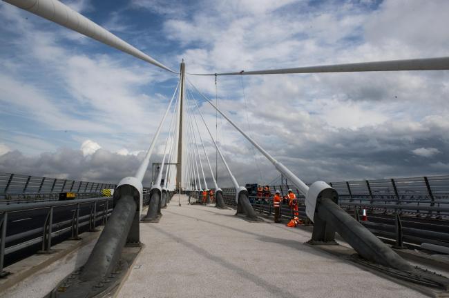 Мост Квинсферри-кроссинг. Фото предоставлено Transport Scotland