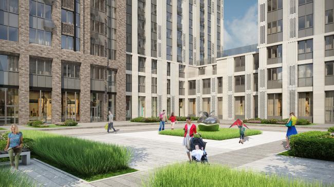 Residential complex, 11th Parkovaya Street © GC «OLIMPROEKT» Ltd.