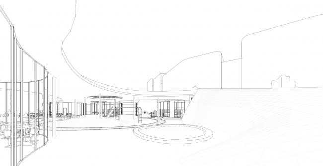 "The community center in ""Respublica"" residential complex © Archimatika"