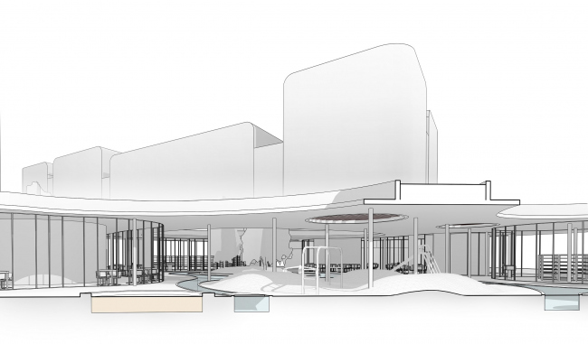 "The community center in ""Respublica"" residential complex © Archimatika"