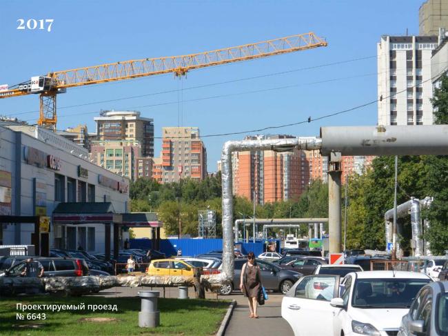 Площадка реновации «Проспект Вернадского», проектируемый проезд 6640, существующее положение © АБ «Остоженка»