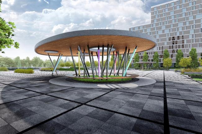 Концепция благоустройства набережной Нагатинского затона «Ривер Парк». Конкурсный проект, 2015