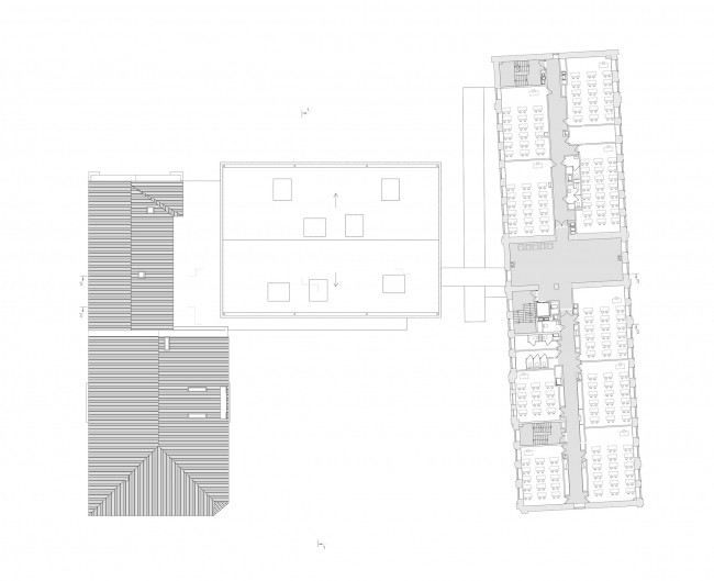 Концепция расширения французского лицея А.Дюма в Милютинском переулке. План уровня 4 © SYNCHROTECTURE совместно с Agence d′Architecture A. Bechu et Associés, СЕТЕК Инжиниринг