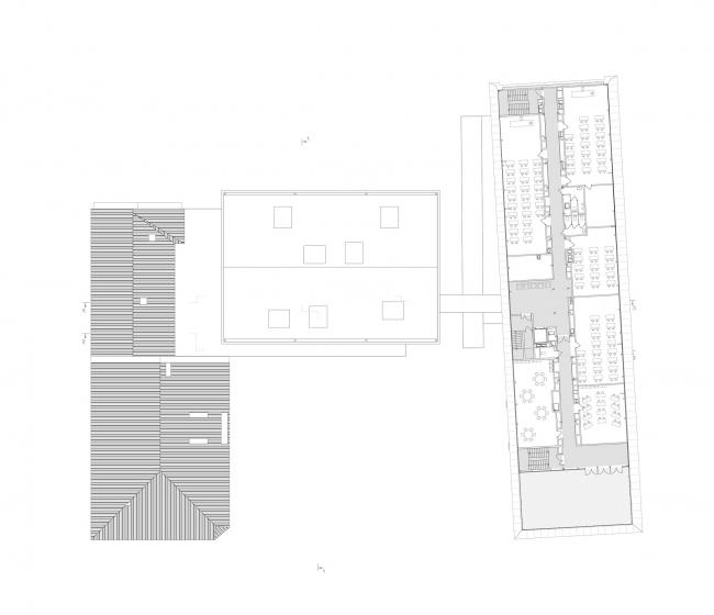 Концепция расширения французского лицея А.Дюма в Милютинском переулке. План уровня 6 © SYNCHROTECTURE совместно с Agence d′Architecture A. Bechu et Associés, СЕТЕК Инжиниринг