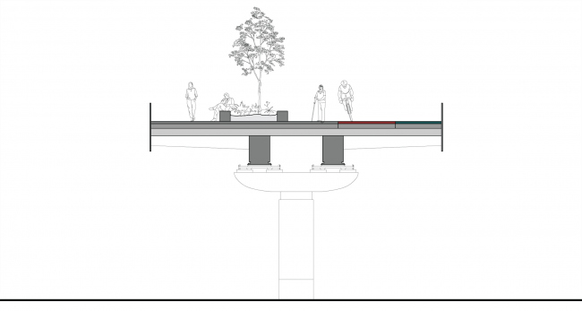 """Section views. """"Monosad"""" project © WOWHAUS"""