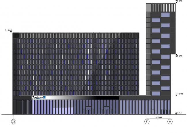 Отель Radisson Blu. Фасад © АБ «А-ГА»