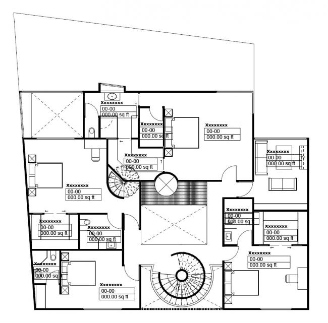 План этажа в BIM-модели © HCF and Associates