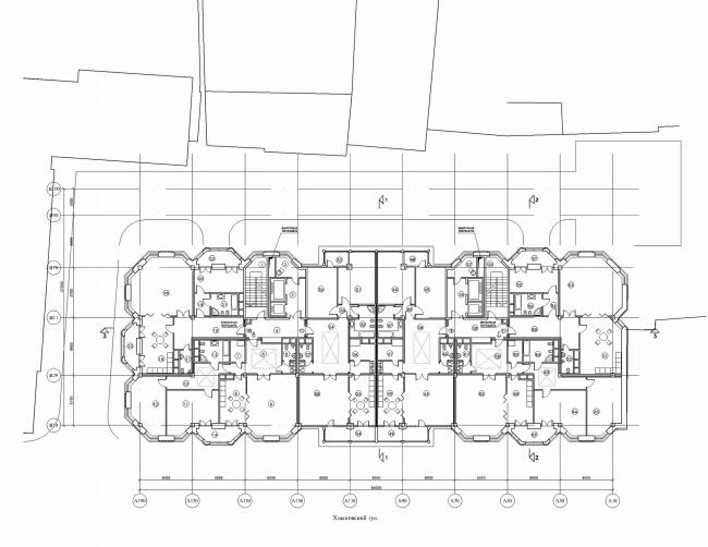 Жилой дом с первым нежилым этажом и подземной автостоянкой в Хлыновском тупике © Архитектурная мастерская Сергея Ткаченко