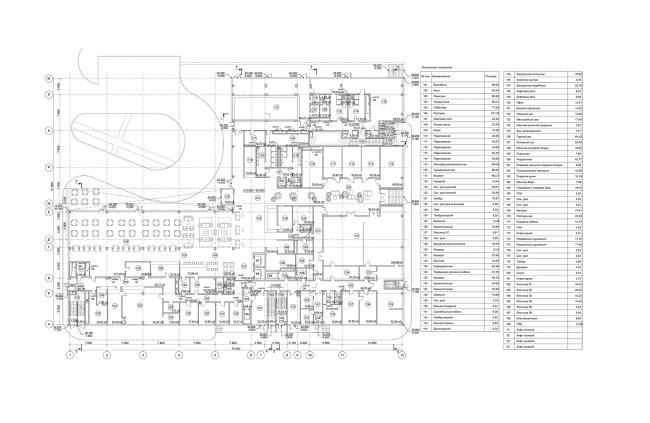 Отель Hilton Garden Inn. План 1 этажа © АБ «А-ГА»