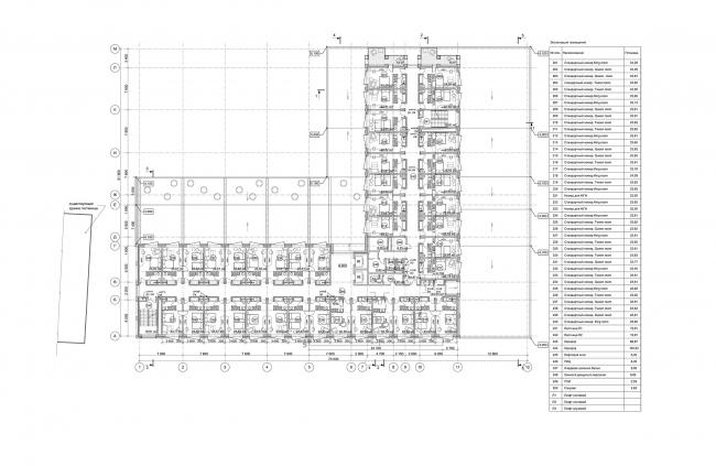 Отель Hilton Garden Inn. План 2 этажа © АБ «А-ГА»