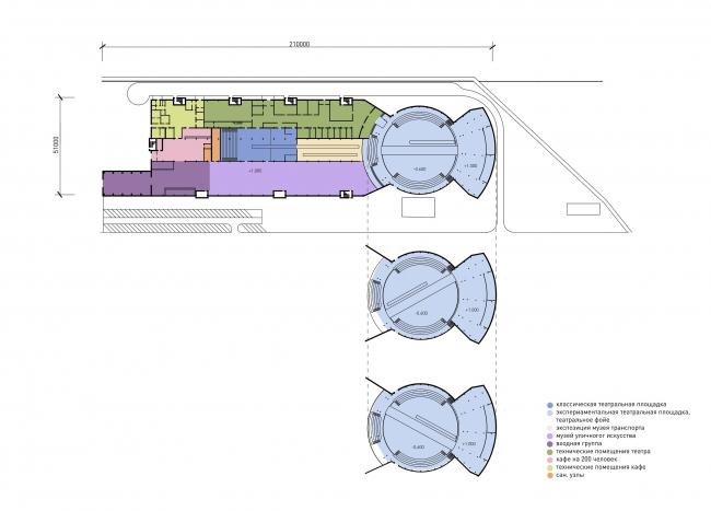 "The depot floor plan. ""Monosad"" project © WOWHAUS"
