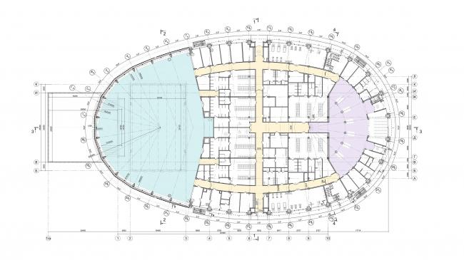 Образовательный центр для одаренных детей «Сириус». Корпус «Спорт». План 1 этажа © Студия 44