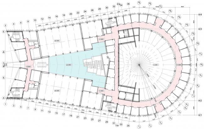 Образовательный центр для одаренных детей «Сириус». Корпус «Искусство». План на отм. +3,600 © Студия 44