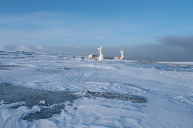 Геодезическая обсерватория в Новом Олесунне. Фото: Hanne Jørgensen