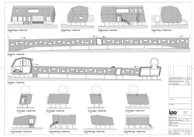 Геодезическая обсерватория в Новом Олесунне © LPO arkitekter