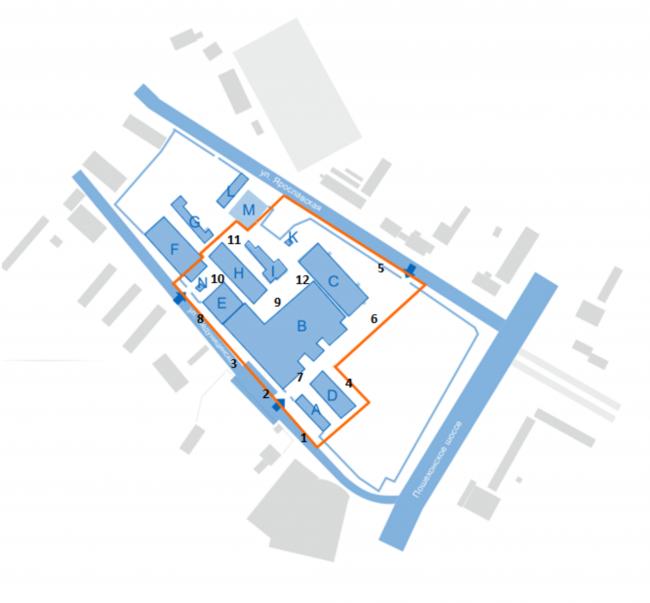 Границы реновации с наименованием корпусов © АртСити