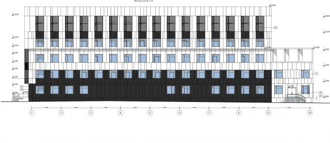 Административно-офисное здание на Пошехонском шоссе. Фасад 1-10 © АртСити
