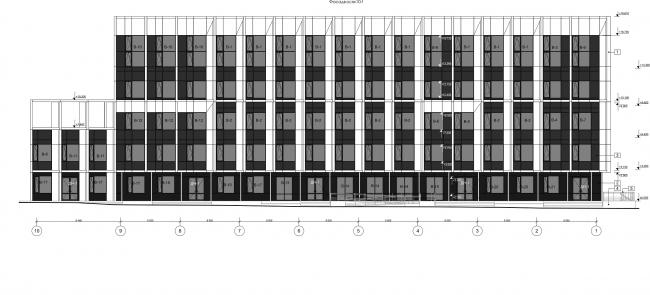 Административно-офисное здание на Пошехонском шоссе. Фасад 10-1 © АртСити