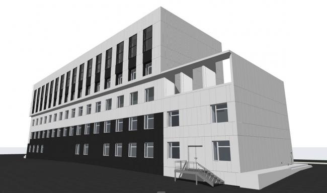 Объемно-пространственное решение фасадов корпуса А © АртСити