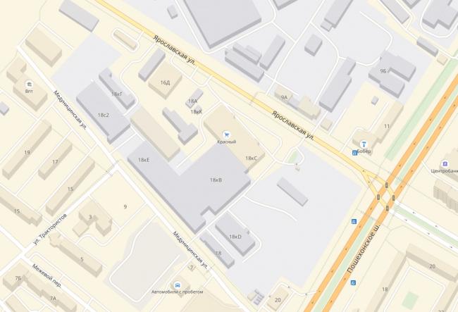Административно-офисное здание на Пошехонском шоссе. Ситуационный план © АртСити