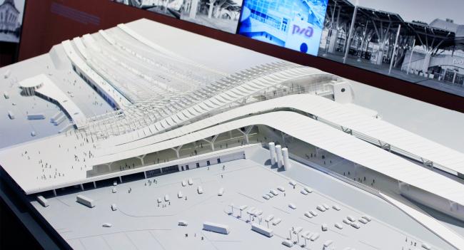 """Olympic Park"" train station, Sochi. Model. The Russian Pavilion, Venice Biennale of Architecture. Photograph Arhi.ru"