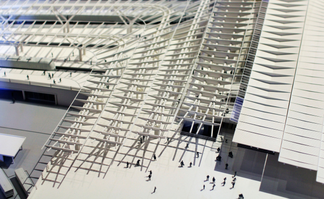 Вокзал «Олимпийский парк», Сочи. Макет. Павильон России, Венеция, биеннале архитектуры. Фотография Архи.ру