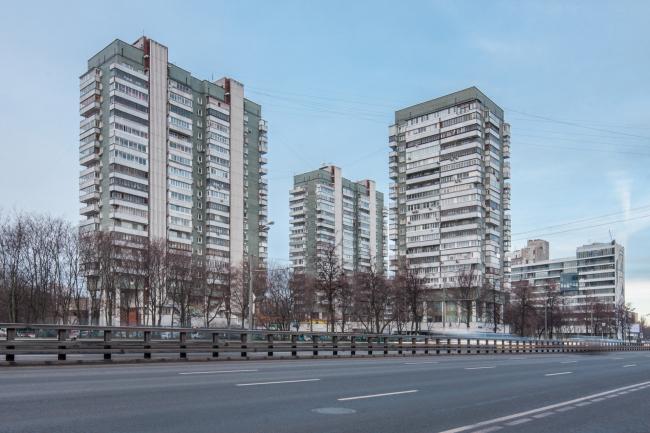 Жилой «Лебедь» на Ленинградском шоссе. Архитектор Андрей Меерсон. Фото © Денис Есаков