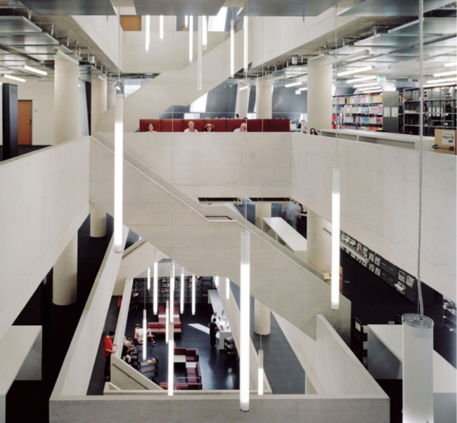 Университетская библиотека, Фрейбург, Германия, DEGELO ARCHITEKTEN, www.degelo.net, фото © Barbara Bühler