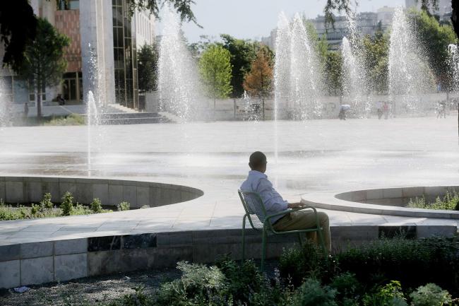 Площадь Скандербега – реконструкция © Blerta Kambo