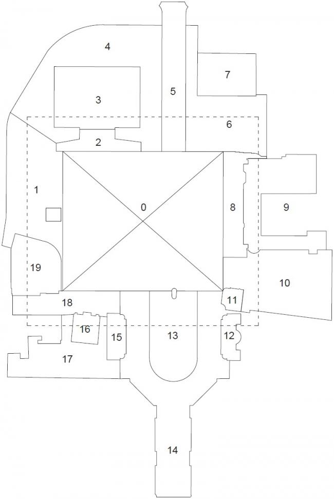 Площадь Скандербега – реконструкция. Схема планировки © 51N4E