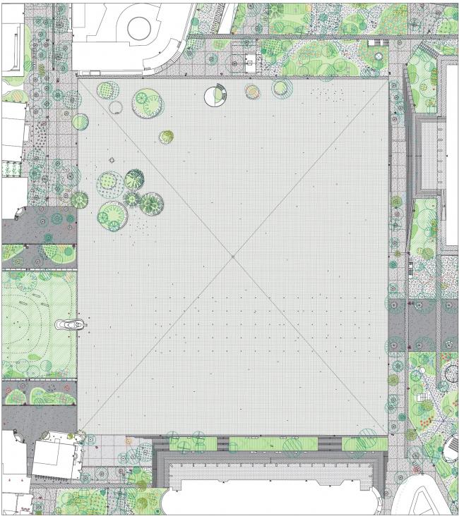Площадь Скандербега – реконструкция © 51N4E