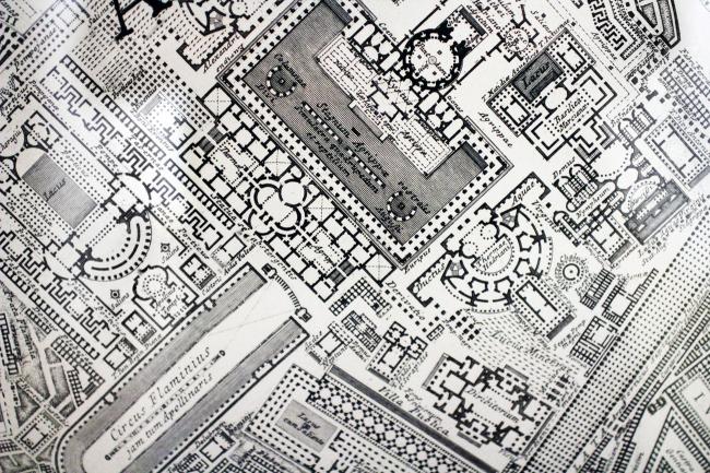 Пиранези, офорт «Ихтиография, или план Марсова поля в античные времена», Италия, 1757. Выставка «Гипноз пространства», Царицыно. Фотография: Ю.Тарабарина, Архи.ру
