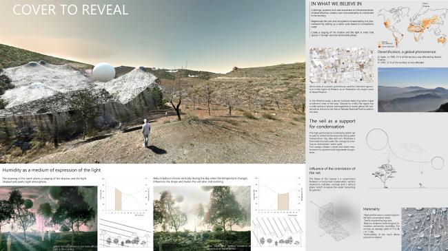 Проект «Прикрыть, чтобы обнаружить» © Brice Lemaire, Xiaolan Vandendries и Julien Obedia, изображение предоставлено VELUX
