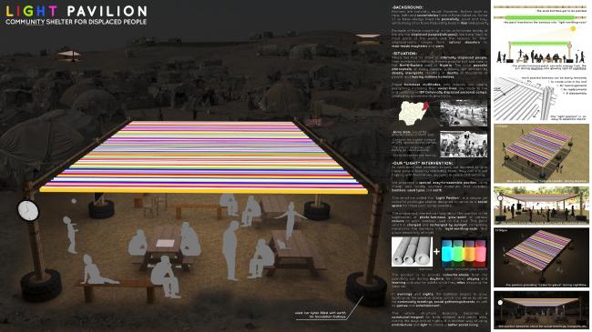 Проект «Павильон света» © Fatai Osundiji и Emmanuel Ayo-Loto, изображение предоставлено VELUX