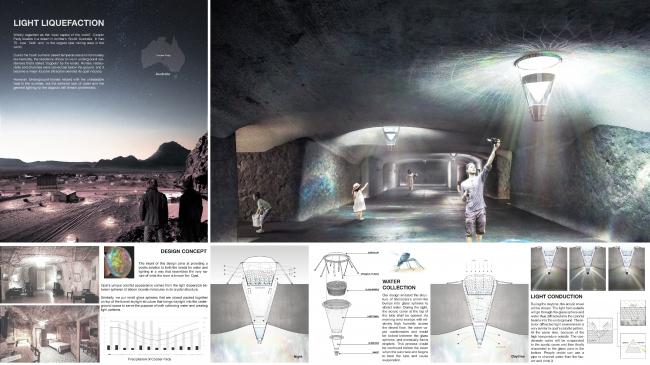 Проект «Разжижение света» © Ziqi Chen, Shuaizhong Wang и Zeyu Liu, изображение предоставлено VELUX