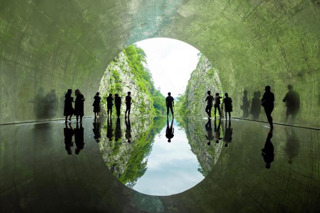 Тоннель у ущелья Киёцу – реконструкция © Osamu Nakamura