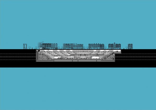 Станции линии метро «Север – Юг». Станция «Де Пейп» © Benthem Crouwel Architekten