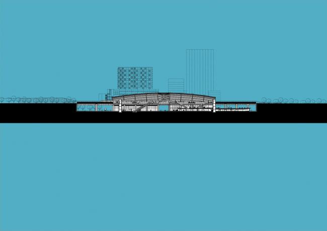 Станции линии метро «Север – Юг». Станция «Норд» © Benthem Crouwel Architekten