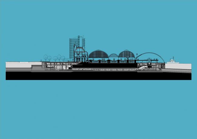 Станции линии метро «Север – Юг». Станция «Центральный вокзал» © Benthem Crouwel Architekten