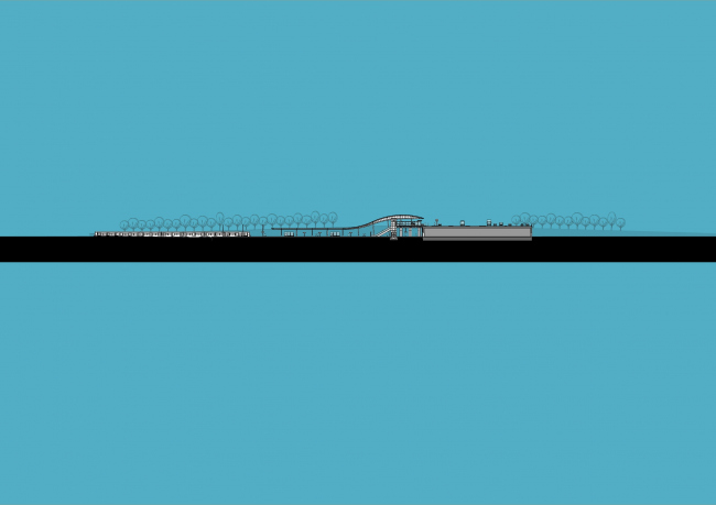 Станции линии метро «Север – Юг». Станция «Нордерпарк» © Benthem Crouwel Architekten