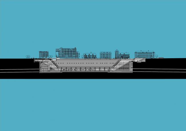 Станции линии метро «Север – Юг». Станция «Вейзелграхт» © Benthem Crouwel Architekten