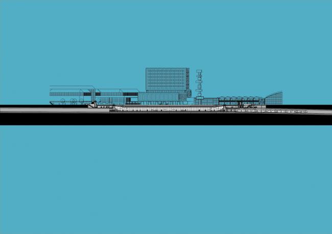 Станции линии метро «Север – Юг». Станция «Эйропаплейн» © Benthem Crouwel Architekten