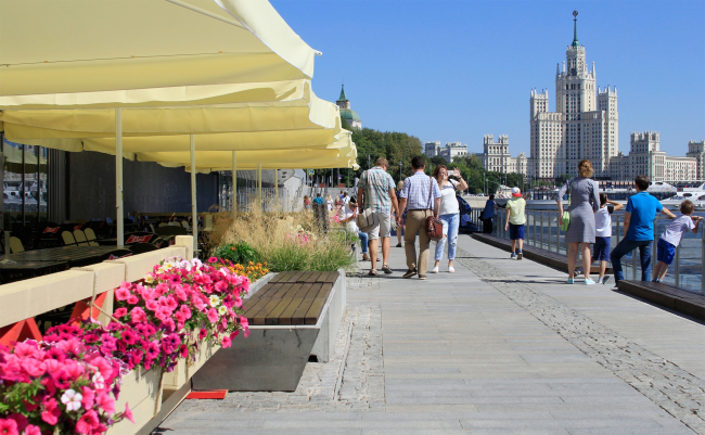 The Moskva River Embankment in the Zaryadye Park © Julia Tarabarina, Archi.ru, 08.2018