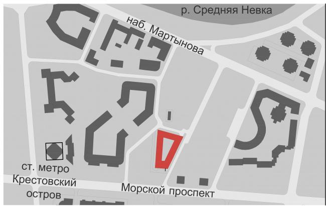 Жилой дом «Верона». 2014. Генеральный план © «Евгений Герасимов и партнеры»