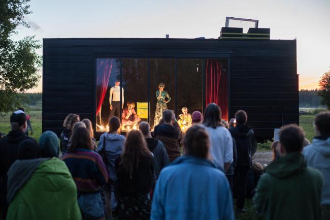Кибитка. Проект фестиваля «Архстояние 2017» © АБ «А-ГА». Фотография © Сергей Болотин, L1
