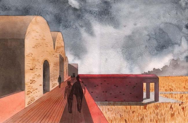 Переосмысление кирпича. Балкон. Автор: Александра Полидовец. Преподаватели: Евгений Асс, Игорь Чиркин © МАРШ