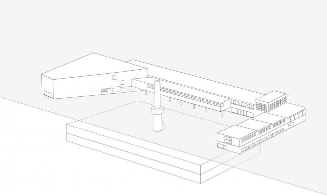 Музей Amos Rex. Схема до реконструкции © JKMM