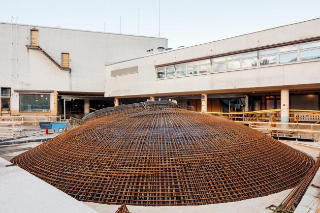 Музей Amos Rex в ходе строительства © Tuomas Uusheimo